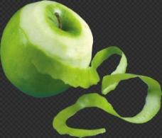 削皮的苹果图片免抠png透明图层素材