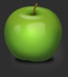 写实绿色苹果图片免抠png透明图层素材
