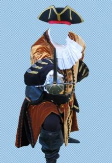 手绘海盗人物免抠png透明图层素材