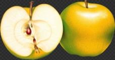 黄色苹果图片免抠png透明图层素材