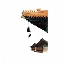 中国风房屋屋檐png元素