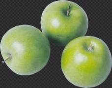漂亮3只苹果图片免抠png透明图层素材