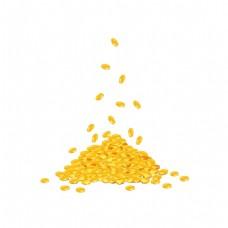 金币飘浮财宝元素
