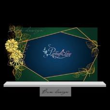 墨绿金色森林主题设计背景板