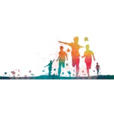 手绘彩色运动元素