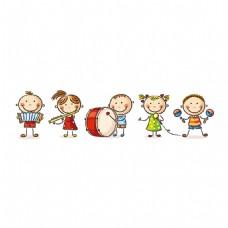 手绘儿童乐器元素