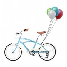 手绘自行车气球元素