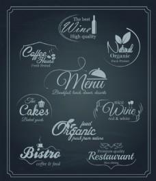 餐厅菜单设计矢量字体素材