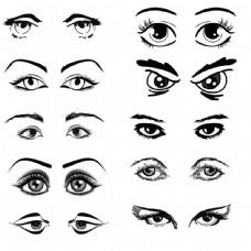 各类眼睛手绘元素素材