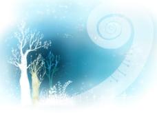蓝色艺术花纹图案背景