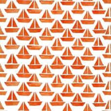 红色夏日帆船背景图矢量设计素材
