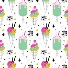 夏日冰淇淋拼贴素材