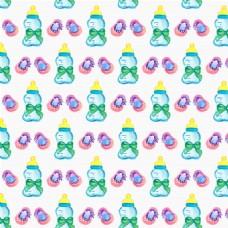 卡通奶瓶背景图