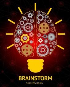 大脑发散思维广告背景