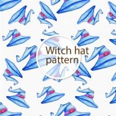 蓝色女巫帽无缝贴图