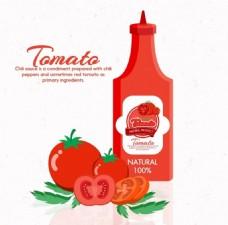番茄酱矢量背景