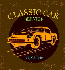 古典汽车矢量背景