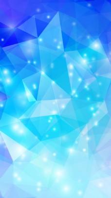 简约蓝色几何三角H5背景素材