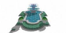 园林花式喷泉景观