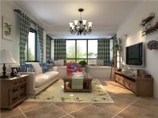 美式家居客厅装修效果图