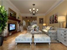 现代家居客厅装修效果图
