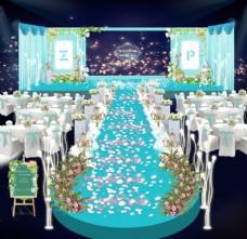 婚礼舞台路引效果图