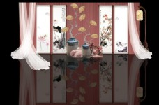 新中式粉色婚礼迎宾区