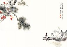 江南春晓山水工笔画装饰背景墙