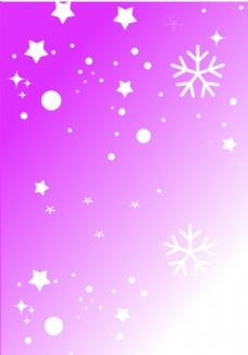雪花粉红色背景