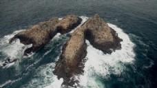 实拍石头岛屿视频素材