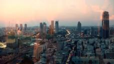 实拍城市建筑风光视频