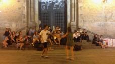 人物街道舞蹈表演视频