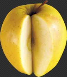 被切了一部分的苹果免抠png透明图层素材