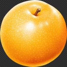 漂亮黄苹果图片免抠png透明图层素材