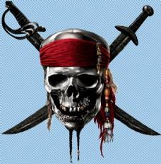 海盗骷髅刀免抠png透明图层素材