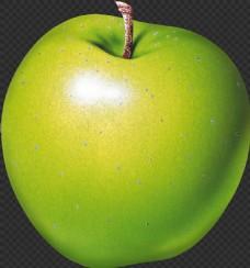 漂亮绿色的苹果图片免抠png透明图层素材