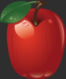 漂亮闪亮苹果图片免抠png透明图层素材