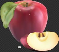 红色漂亮苹果图片免抠png透明图层素材