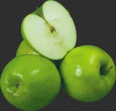 切开的青苹果图片免抠png透明图层素材