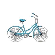手绘简约自行车元素