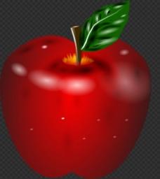 手绘红色苹果图片免抠png透明图层素材