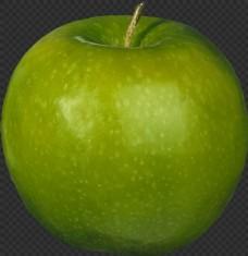 漂亮绿颜色苹果图片免抠png透明图层素材