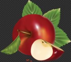 漂亮逼真苹果图片免抠png透明图层素材