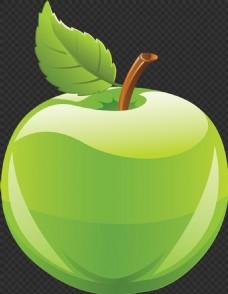 手绘绿色苹果图片免抠png透明图层素材