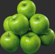 一堆青苹果图片免抠png透明图层素材
