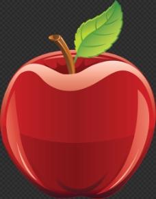 手绘闪亮苹果图片免抠png透明图层素材