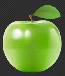 靓丽青苹果图片免抠png透明图层素材