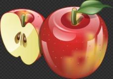 闪亮苹果图片免抠png透明图层素材