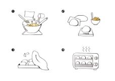 软面包面粉包装袋背面制作小步骤