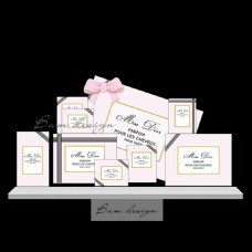 粉色粉黑香水主题婚礼活动背景板设计素材